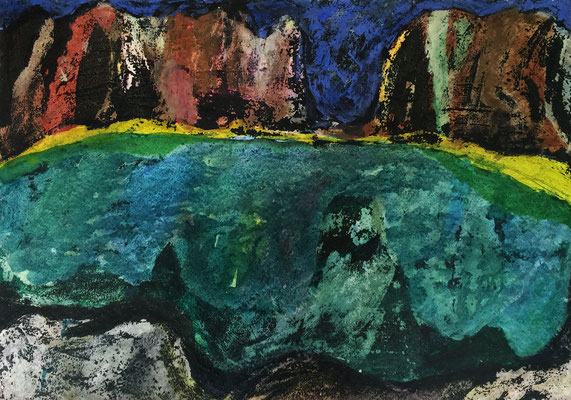 The Alps 4 / acrylic, ink on paper 50x70cm, 1996