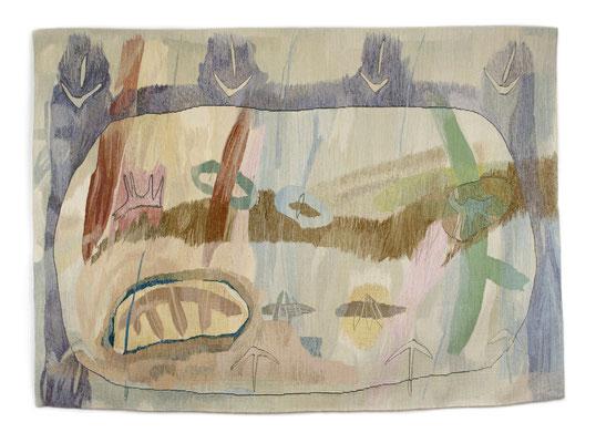 Tornado / tapestry, wool, 120x160cm, 1998-99