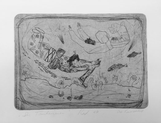 Japanese tales 1 / etching, ca. 25x17cm, 1998