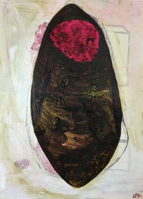 Seed 7 / acrylic, ink on paper, 50x70cm, 2004