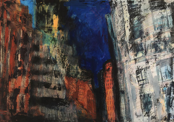 NYC 2 / acrylic, ink on paper 50x70cm, 1997