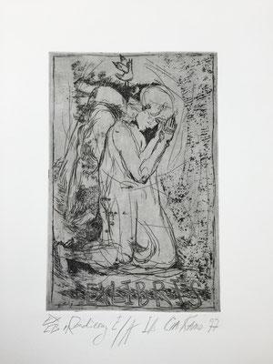 Exlibris  2 / etching, ca. 20x12cm, 1997