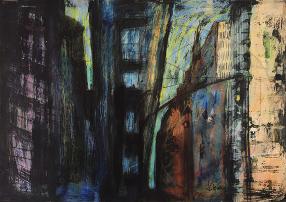 NYC 3 / acrylic, ink on paper 50x70cm, 1997