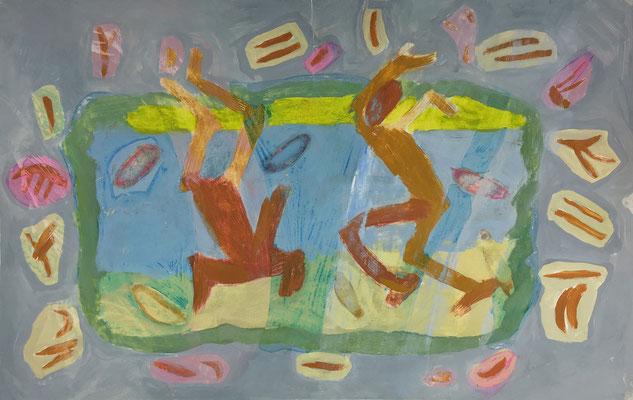 Dancing figures / drawing, paper, 20x30cm, 1997