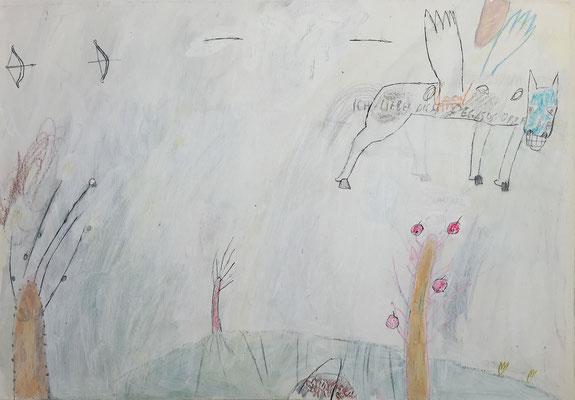 Ich liebe dich 2 / drawing, paper, 20x30cm, 1999
