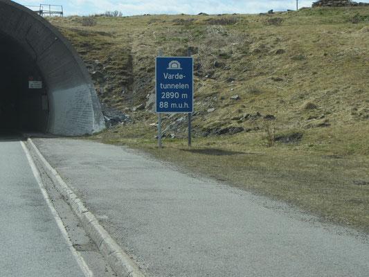 Vardö ist nur durch einen Tunnel zu erreichen