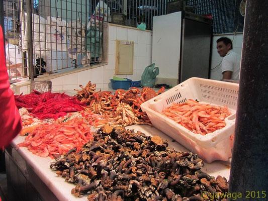 in der Meeresfrüchteabteilung
