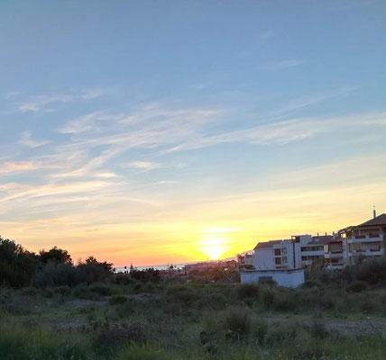 Sonnenuntergang am SP