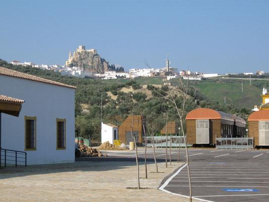 Blick vom SP zum Ort Olvera