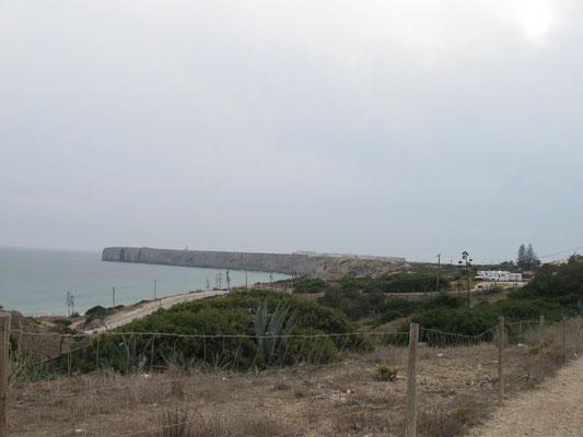 Blick zum Fortaleza de Sagres
