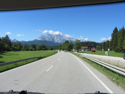 unterwegs nach Garmisch
