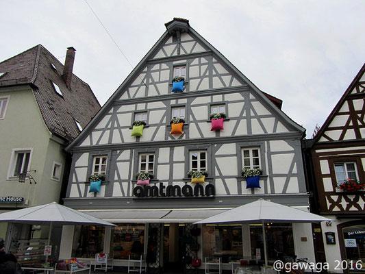 interessanter Fensterschmuck in Forchheim