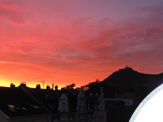 Sonnenuntergang über dem Drachenfels