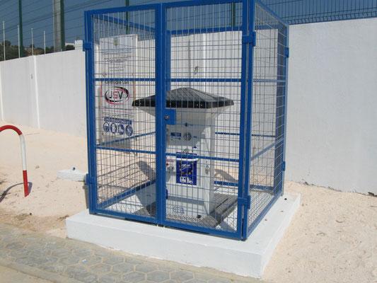 noch nicht in Betrieb, die V+E Anlage am neuen Stellplatz in Lagos