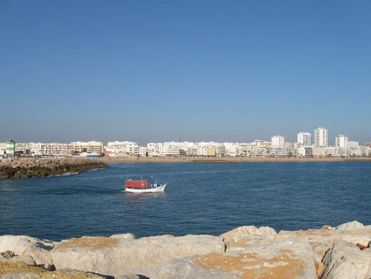 der kleine Hafen von Quarteira
