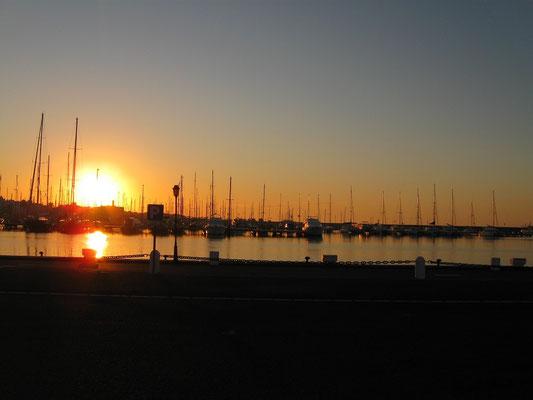 Sonnenaufgang in Almerimar