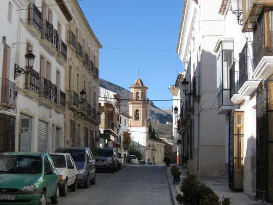 Straße in Vélez Rubio