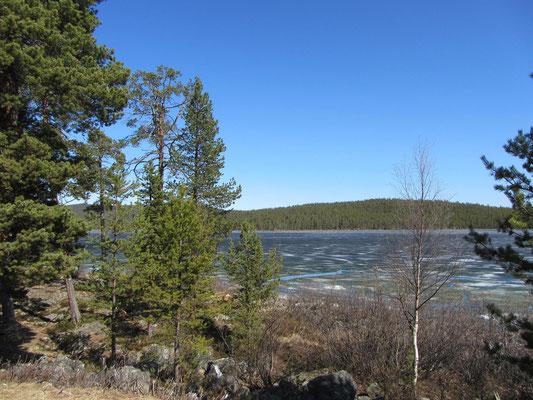 Rast an einem idyllischen See