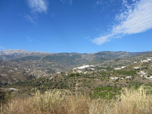 Blick auf die Berge der Axarquia