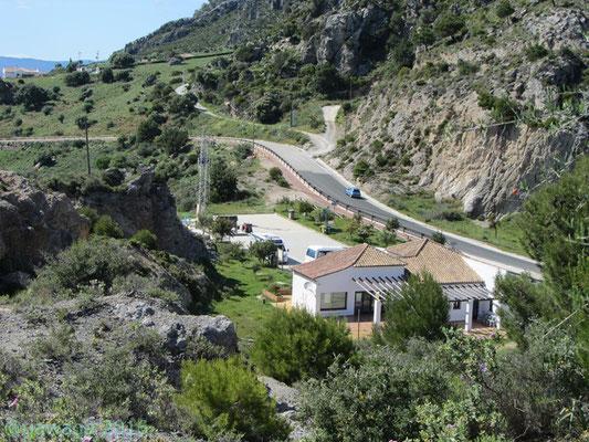 Stellplatz in Casares vom Aussichtspunkt