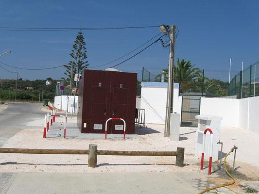 der öffentliche SP liegt neben dem Gelände des Sportparks