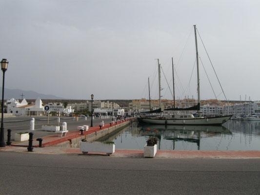 der Bereich der Parkplätze an der Marina