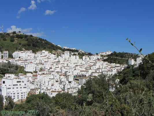 Casares ein weißes Dorf in der Provinz Malaga
