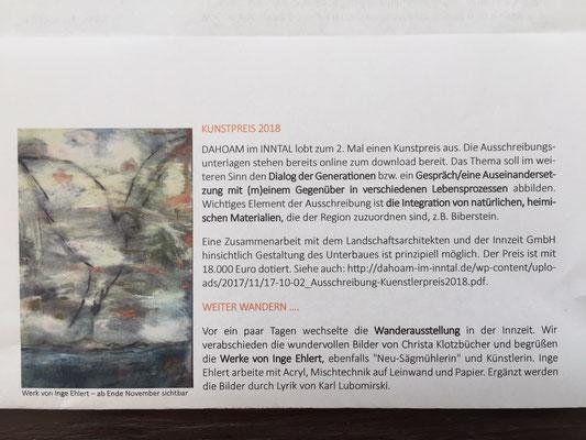 """Ausstellung Innzeit """" Dahoam im Inntal"""", Brannenburg Dezember 2017"""