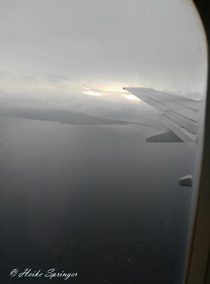 Anflug auf Longyearbyen