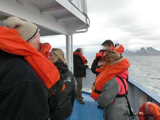 Sicherheitseinweisung auf dem Schiff