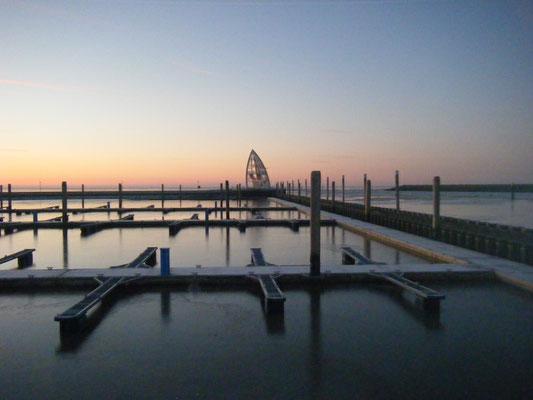 Bootshafen im Winter