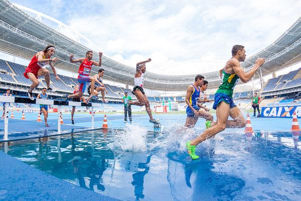 Laufen, Leichtathletik, Hindernislauf