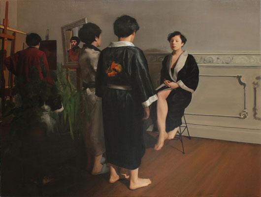 Alegorías I, óleo sobre lino. 2015.