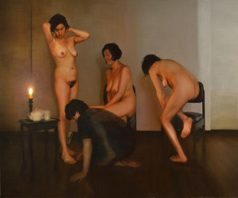 Alegorías IV, óleo sobre lienzo, lado derecho. 2017
