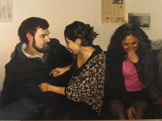 """""""Inauguración"""" composition 1. Oil on canvas, 80 x 100 cm.2011"""