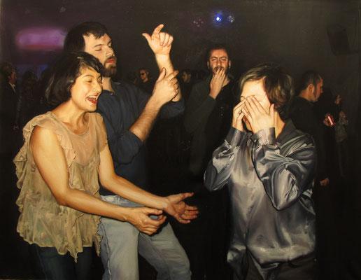 """""""Baile de despedida"""". (Composición 4) Óleo sobre tela, 84 x 95. 2012-13"""