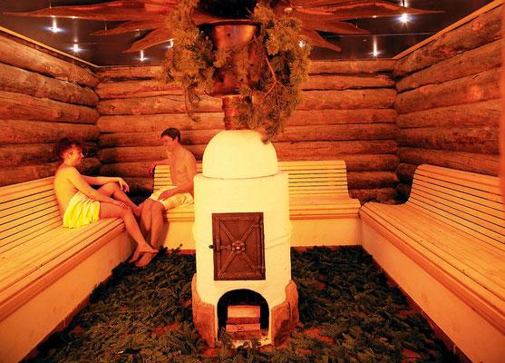 Die Heusaune im Hotel Sonnenbichl, Oberallgäu. Eine schöne Ergänzung für die Schneeschuh Wanderwoche im Allgäu