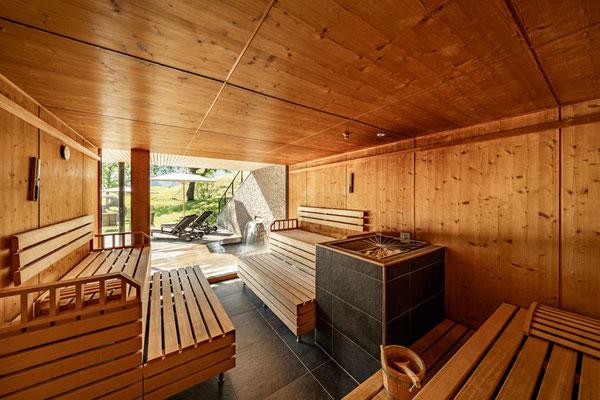 Finnische Sauna Biohotel Chesa Valisa Kleinwalsertal