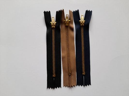 Hosenreißverschluß - schwarz, beige, blau - 6,8,10,12 cm