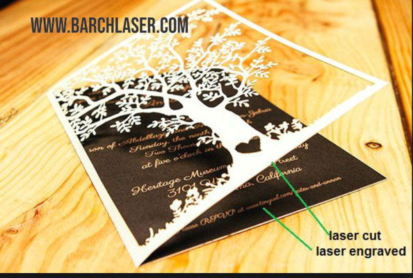 Laser CO2 cutting and engraving paper