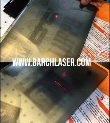 plastic semi transparent, engraving with fiber laser