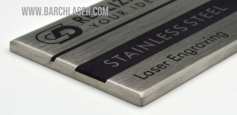 Black engraving on metals