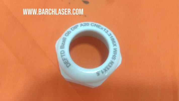 Ceramic engraving with UV laser