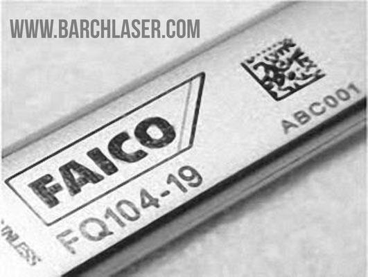 laser dark engraving on stainless steel