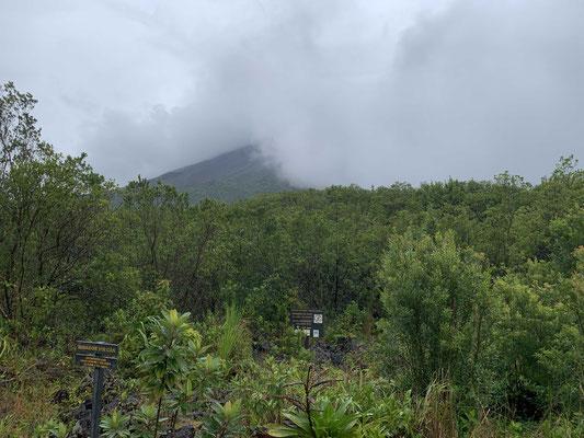 Mit dem Vulkan Areal ist es wie mit dem Matterhorn: Er versteckt sich meistens hinter einer Nebelwand. So leider auch heute.