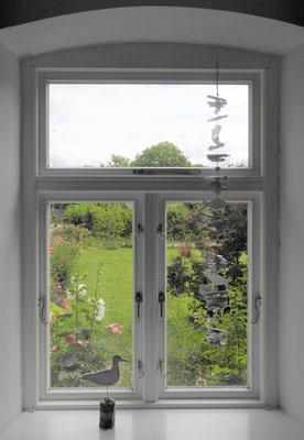 auch hier hat man einen tollen Blick in den Garten.