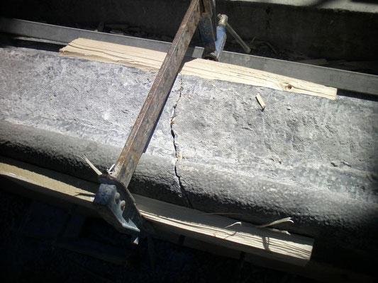 Réparation d'un linteau en peirre