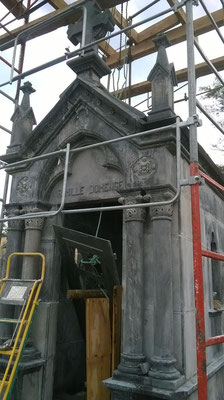 Rénovation d'une chapelle funéraire