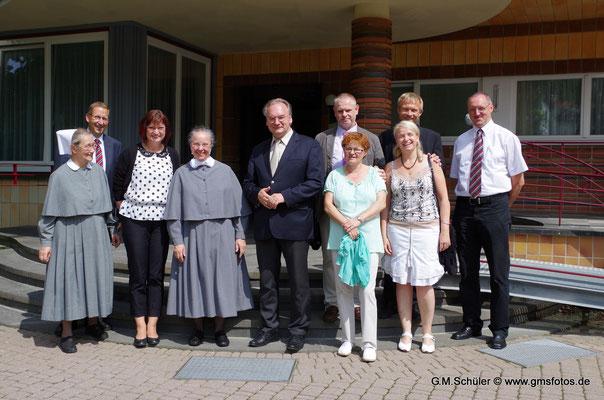 Besuch des Ministerpäsidenten im Mutterhaus - Volksstimme August 2014