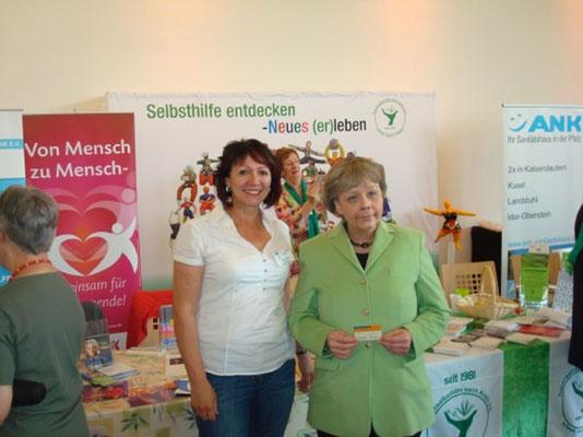 Die Doppelgängerin von Bundeskanzlerin Mekrel stattet uns auch einen Besuch ab